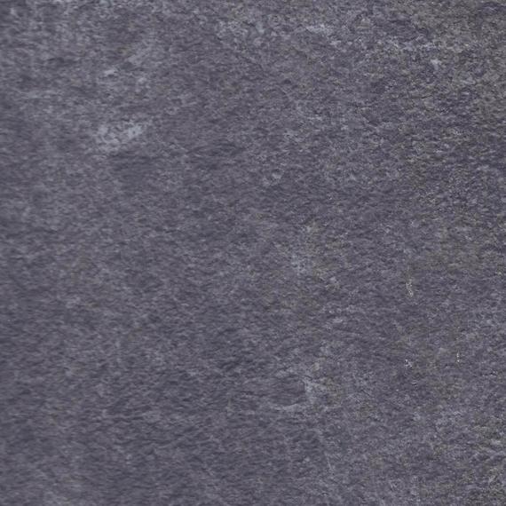 Rio table 80x80 cm frame: aluminium anthracite matt textured coating, oval table legs, tabletop: fm-laminat spezial graphito