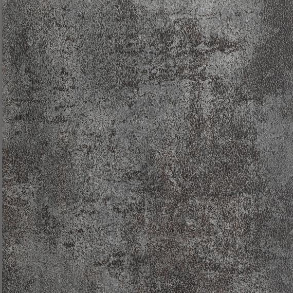 Rio table 95x95cm, frame: aluminium white matt textured coating, oval table legs, tabletop: fm-ceramtop oxyd anthracite
