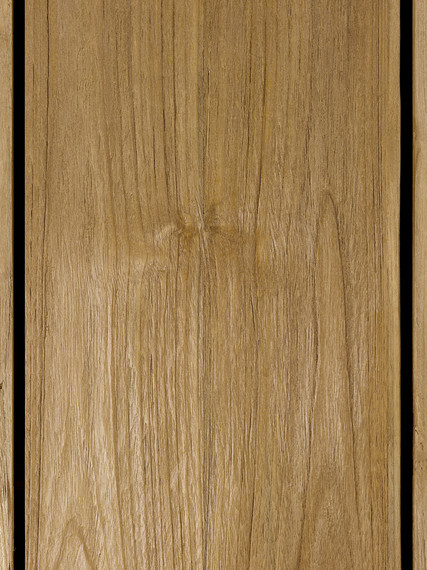 Rio front extension table 95x200/260/320cm, frame: aluminium anthracite matt textured coating, tabletop: Vintage teak