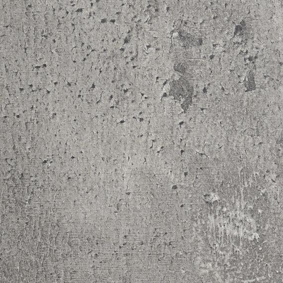 Taku bistro table round 90cm, frame: stainless steel white matt textured coating, tabletop: fm-laminat spezial Cement