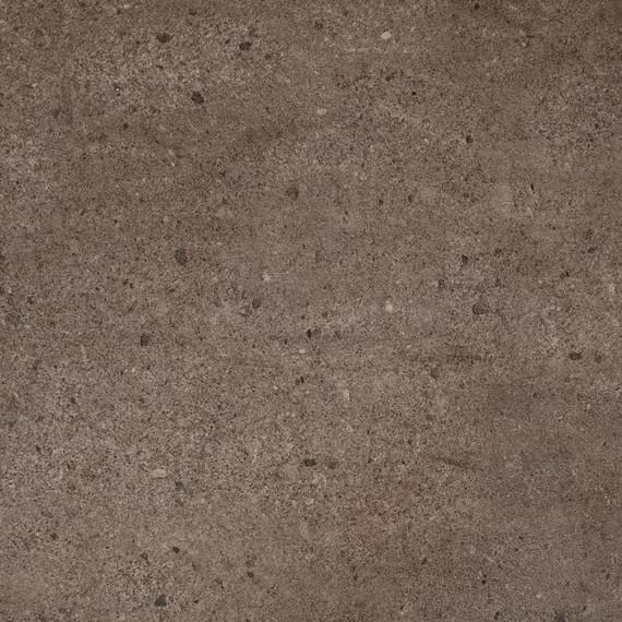 Taku bistro table round 100cm, frame: stainless steel white matt textured coating, tabletop: fm-ceramtop Paros tabacco