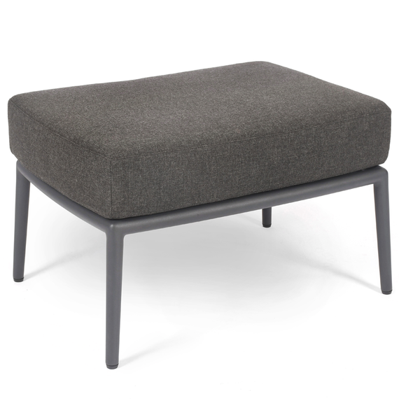 Cosmo Lounge footrest, frame: aluminium anthracite matt textured coated, cushion seat and back charcoal