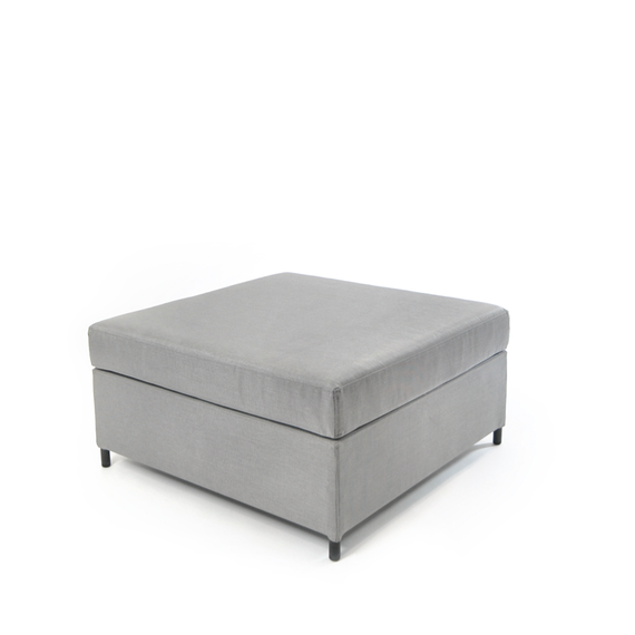 Rio lounge footrest, incl. Cushion Quick Dry foam,  frame: aluminium, powder coated anthracite, seating surface: sling greystone