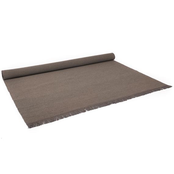 Outdoor Teppich mit Fransen 200x300 cm, handgeflochten, aus UV- und witterungsbeständigem Polypropylengewebe