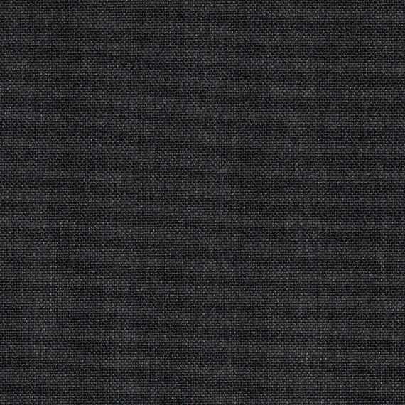 Flora Lounge rechtsbündig mit Teakleisten, Untergestell in Edelstahl anthrazit matt Strukturlack, Hochwertige Polsterung mit flexiblen Federleisten, Plattform 100x231 cm, Sitz- und Rückenkissen aus Outdoor – Stoffen 10030W Sunbrella® Natte weatherproof Sooty Anthracite