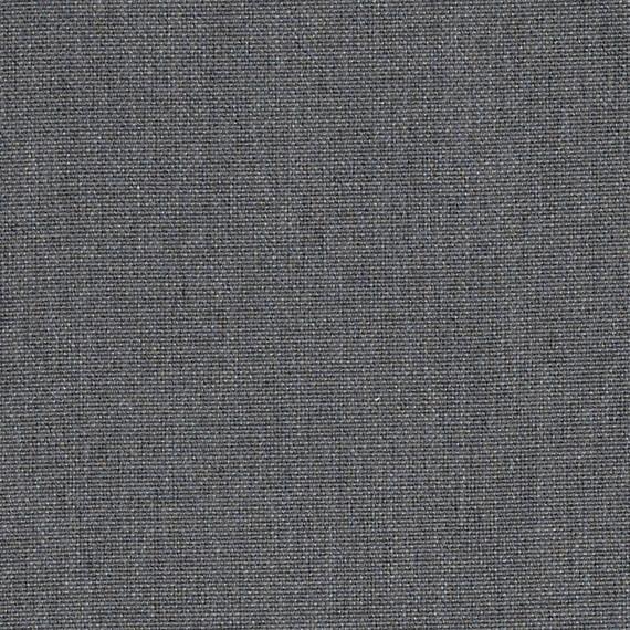 Flora Lounge rechtsbündig mit fm-laminat spezial Titan, Untergestell in Edelstahl anthrazit matt Strukturlack, Hochwertige Polsterung mit flexiblen Federleisten, Plattform 100x231 cm, Sitz- und Rückenkissen aus Outdoor – Stoffen 10063 Sunbrella® Natte Charcoal Chine