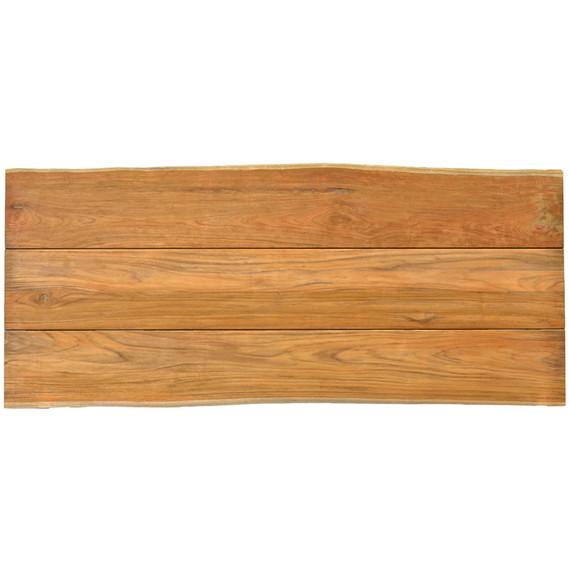 Unikat Teakholzplatte mit Baumkante 220x95 cm (Breite variiert von 92 - 98 cm)