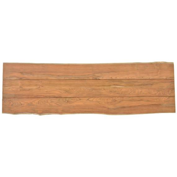 Unikat Teakholzplatte mit Baumkante 320x100 cm (Breite variiert von 96 - 104 cm)