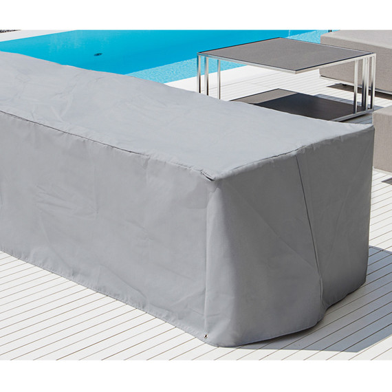 Schutzhaube für Kalos Lounge Sitzelement 200x100 cm mit 2 Rücken und Seitenteile