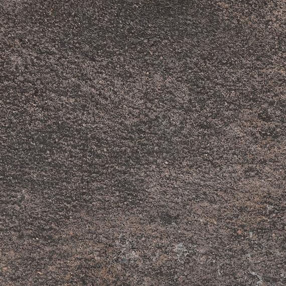 Rio table 95x95cm, frame: aluminium anthracite matt textured coating, oval table legs, tabletop: fm-laminat spezial Titan