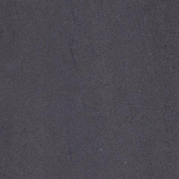 Taku bistro table round 115cm, frame: stainless steel, tabletop: fm-cermatop lava nero