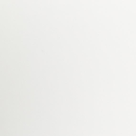 Taku bistro table round 115cm, frame: stainless steel white matt textured coating, tabletop: fm-laminat spezial white