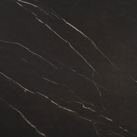 Taku bistro table round 120cm, frame: stainless steel white matt textured coating, tabletop: fm-cermatop Stella
