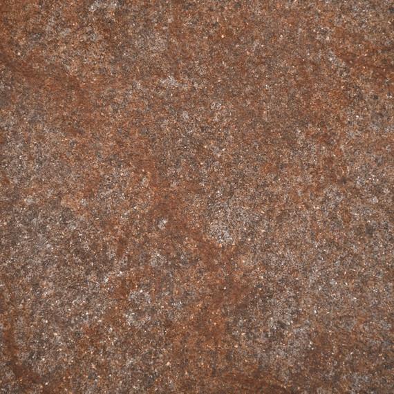 Taku bistro table round 115cm, frame: stainless steel white matt textured coating, tabletop: fm-cermatop Rocco