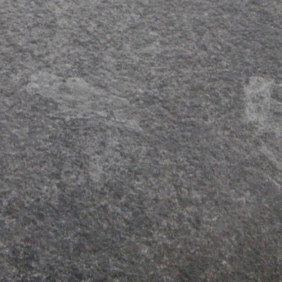 Taku bistro table round 100cm, frame: stainless steel, table top: fm-laminat spezial graphito