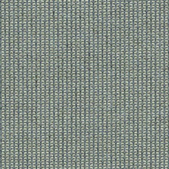 Flora Lounge Mittelposition mit Teakleisten, Untergestell in Edelstahl anthrazit matt Strukturlack, Hochwertige Polsterung mit flexiblen Federleisten, Plattform 100x231 cm, Sitz- und Rückenkissen aus Outdoor – Stoffen J339 Sunbrella® Majestic Quartz
