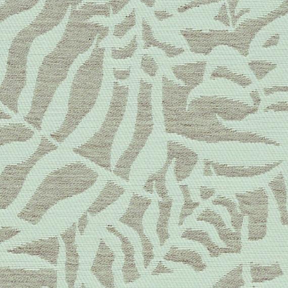 Flora Lounge Mittelposition mit Teakleisten, Untergestell in Edelstahl anthrazit matt Strukturlack, Hochwertige Polsterung mit flexiblen Federleisten, Plattform 100x231 cm, Sitz- und Rückenkissen aus Outdoor – Stoffen J369 Sunbrella® Ikebana Uyuni