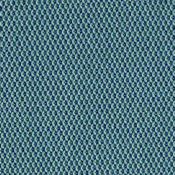 Flora Lounge Mittelposition mit Teakleisten, Untergestell in Edelstahl anthrazit matt Strukturlack, Hochwertige Polsterung mit flexiblen Federleisten, Plattform 100x231 cm, Sitz- und Rückenkissen aus Outdoor – Stoffen R042 Sunbrella® Lopi Nenuphar