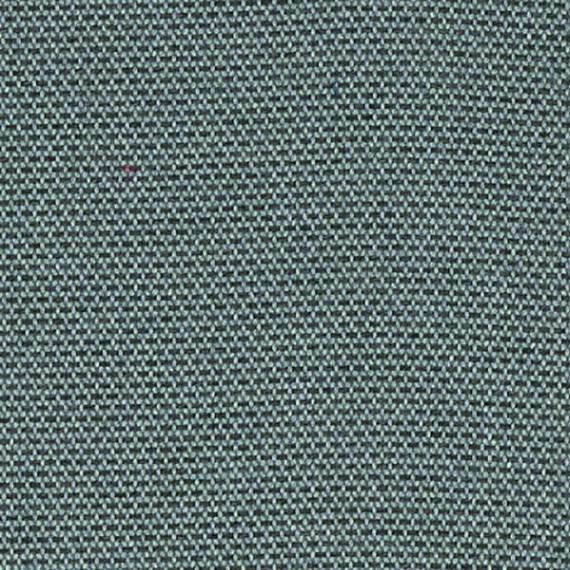 Flora Lounge rechtsbündig mit Teakleisten, Untergestell in Edelstahl anthrazit matt Strukturlack, Hochwertige Polsterung mit flexiblen Federleisten, Plattform 100x231 cm, Sitz- und Rückenkissen aus Outdoor – Stoffen R053 Sunbrella® Archie Lead