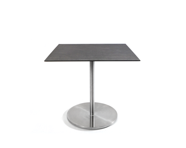 Swing bistro table, hinged