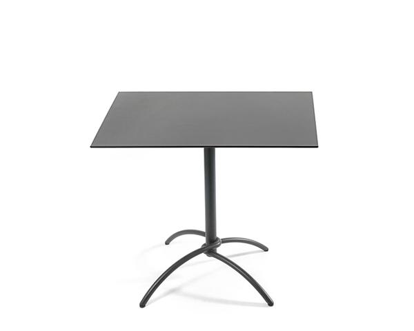 Taku bistro table frame stainless steel anthracite matt, textured coating, hinged