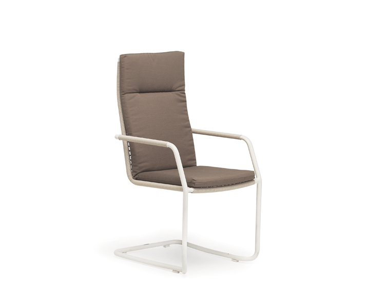 Lodge high back cantilever chair