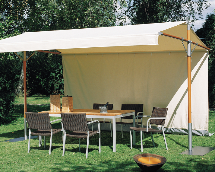 Woodline Piuma sunshade, aluminium and stainless steel