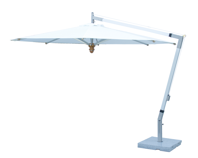 Woodline free-arm parasol, aluminium