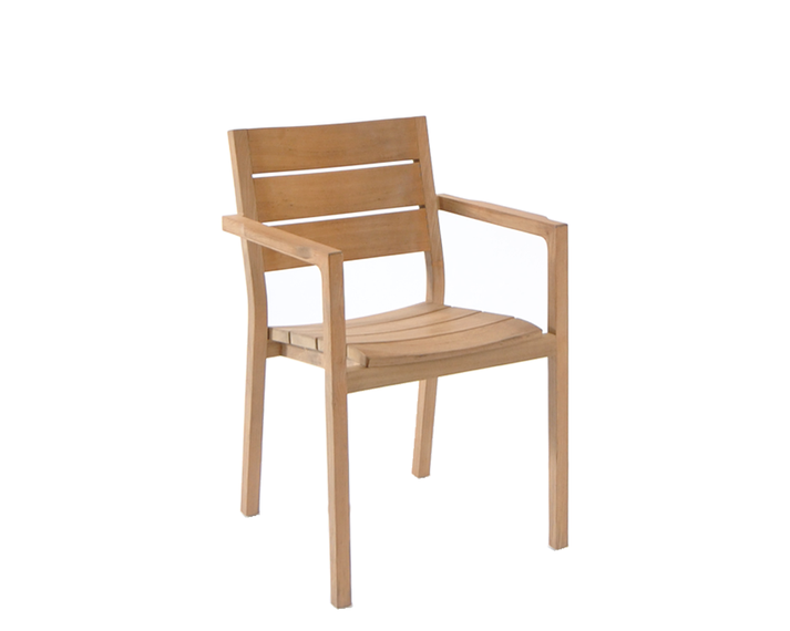 June armchair, stackable