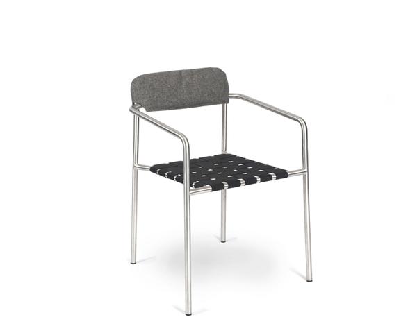 Tonic armchair back cushion granite