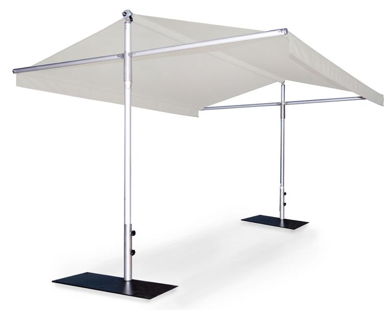 Woodline Piuma sunshade, aluminium and stainless steel