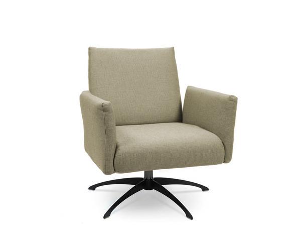 Kalos Lounge armchair, Five-star swivel base