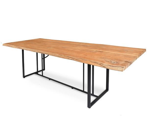 Suite table with unique teak table top
